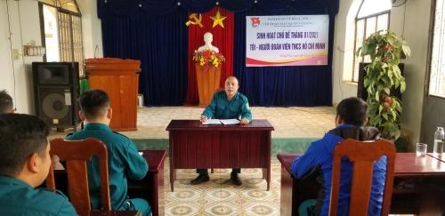 Chi đoàn Dân quân cơ động thị trấn Đông Phú tổ chức sinh hoạt chi đoàn chủ điểm tháng 01