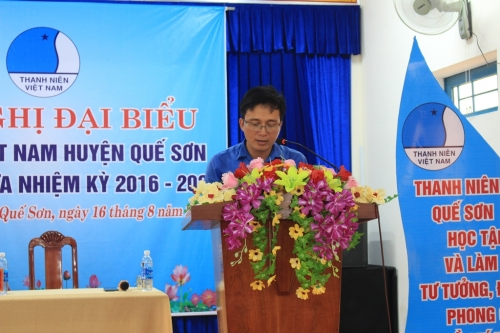 Hội nghị đại biểu Hội LHTN Việt Nam huyện Quế Sơn giữa nhiệm kỳ 2016-2021