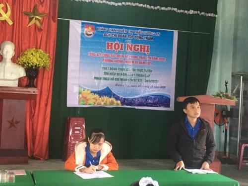 Hương An: Chi đoàn TDP Đồng Tràm tổ chức Hội nghị tổng kết công tác đoàn và phong trào TTN năm 2020