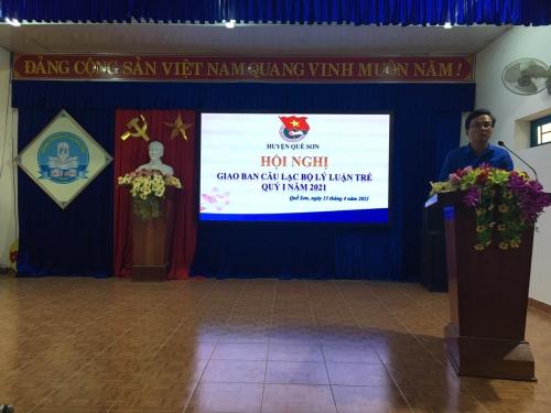 Huyện đoàn Quế Sơn tổ chức giao ban CLB Lý luận trẻ quý I/2021