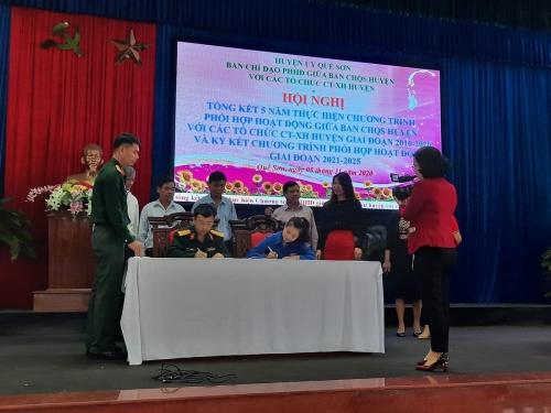 Huyện đoàn Quế Sơn: Tổng kết 05 năm thực hiện chương trình phối hợp hoạt động với Ban Chỉ huy Quân sự huyện giai đoạn 2016-2020