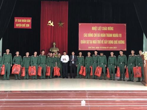 Quế Sơn: Gặp mặt quân nhân hoàn thành nghĩa vụ quân sự tại ngũ trở về xây dựng quê hương