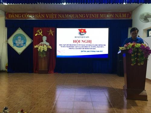 Quế Sơn tổ chức học tập, quán triệt Chỉ thị số 05-CT/TW năm 2021 và tuyên truyền Cuộc bầu cử