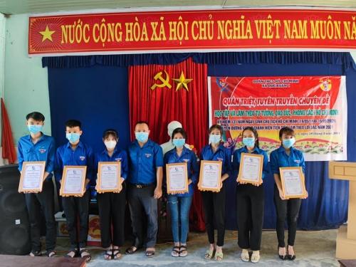 Quế Xuân 1: Học tập 02 chuyên đề học tập và làm theo tư tưởng, đạo đức, phong cách Hồ Chí Minh và tuyên dương gương thanh niên tiên tiến làm theo lời Bác năm 2021
