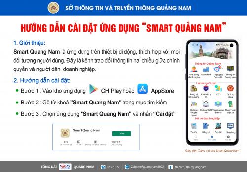 Smart Quảng Nam - Ứng dụng kết nối người dân, doanh nghiệp với chính quyền