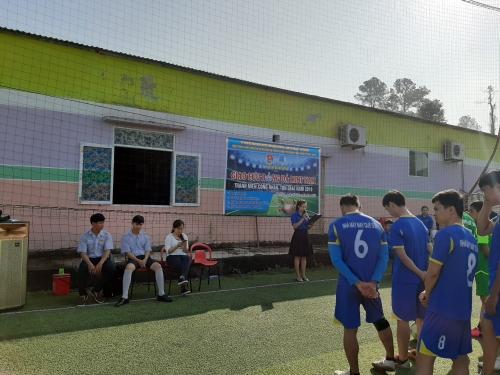 Ủy ban Hội huyện tổ chức giải bóng đá thanh niên công nhân, tôn giáo